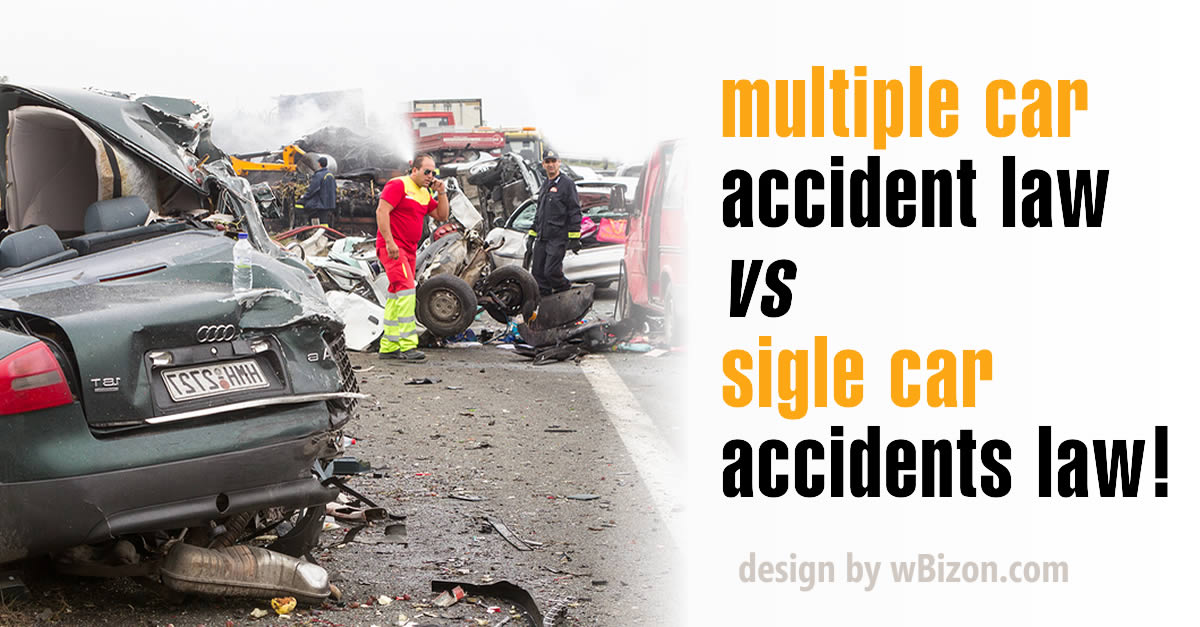 multiple vs single car accident law